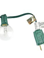 Lidore nouvelle g40 ampoule globe jeu de lumière patio. Liste ul. ampoules claires avec cordon noir. 25ft longtemps. adapté pour une