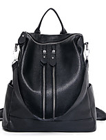 Casual Backpack Women Cowhide Blue Black