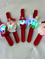 3PCSChristmas With Christmas Decorations Christmas Gift Lamp Pat Circle With Lamp Ring Bracelet Pops Party Essentials(Style Random)
