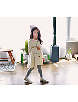 Girl's Casual/Daily Print DressCotton Winter / Fall Beige