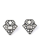 European Style Luxury Gem Geometric Earrrings Triangle Stud Earrings for Women Fashion Jewelry Best Gift
