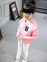 Girl's Casual/Daily Solid Jacket & CoatCotton Spring / Fall Black / Pink