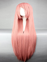 Top Grade Synthetic Vocaloid Luka Popular Smoke Pink Long Straight Cosplay Wig
