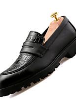 Черный Бордовый-Мужской-Повседневный-Дерматин-На плоской подошве-Удобная обувь-Мокасины и Свитер