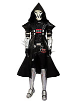Cosplay Costumes / Party Costume / Masquerade Super Heroes / Soldier/Warrior / Skeleton/Skull Movie Cosplay White / BlackPatchwork /