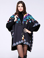 NITE OWL Women Polyester ScarfCasual TriangleBlueJacquard-16029