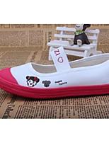 Mädchen-Flache Schuhe-Lässig-Baumwolle-Flacher Absatz-Komfort-Blau / Rot