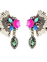 European Luxury Gem Geometric Earrrings Exaggerated Wing Drop Earrings for Women Fashion Jewelry Best Gift