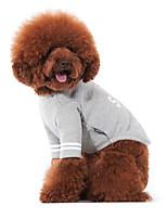 Hunde T-shirt Grau Hundekleidung Winter / Frühling/Herbst Buchstabe & Nummer Niedlich / Lässig/Alltäglich