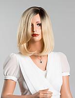 doce bob de comprimento médio peruca sem capa retas de alta qualidade cabelo humano cor misturada