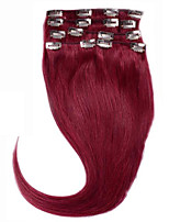 Colour Hair #BUG Clip in RemyVirgin Human Hair Extensions Silky Straight Hair Clip 7Pieces Straight Brazilian Hair