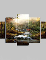 Unframed Canvas Print Landscape Modern,Five Panels Canvas Any Shape Print Wall Decor For Home Decoration