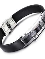 kalen® 2016 nova pulseira de couro de moda de aço inoxidável 316 presente acessório de moda masculina charme pulseira para o namorado