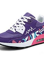 Homme-Sport-Violet / Gris-Talon Plat-Confort-Sneakers-Tulle