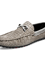 Men's Loafers & Slip-Ons Spring Summer Fall Moccasin PU Casual Flat Heel Blue Yellow Gray Other