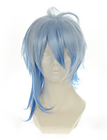 Amnesia Ikki White Mixed Blue Versatile Turned Alice Halloween Wigs Synthetic Wigs Costume Wigs