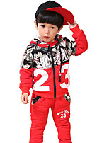 Boy's Casual/Daily Solid Clothing SetCotton Winter Blue / Red / Gray