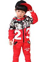 Jungen Kleidungs Set-Lässig/Alltäglich einfarbig Baumwolle Winter Blau / Rot / Grau
