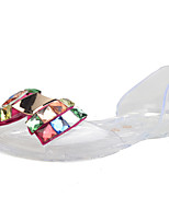 Women's Sandals Summer Comfort Rubber Casual Flat Heel Bowknot Black / White / Champagne Others