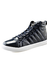 Men's Boots Spring Fall Winter Others PU Outdoor Casual Flat Heel Lace-up Black Running Basketball Others