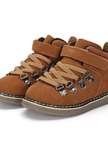 Boy's Boots Winter Platform Others Comfort Leather Outdoor Casual Athletic Flat Heel Rivet Braided Strap Gore Magic Tape Gray Tan Camel