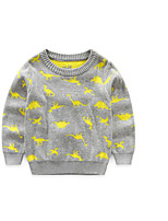 Boy's Casual/Daily Print Sweater & CardiganCotton Winter / Fall Black / Gray