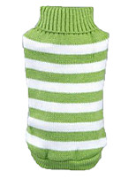 Cat Dog Sweater Dog Clothes Winter Spring/Fall Stripe Casual/Daily Green Blue Pink