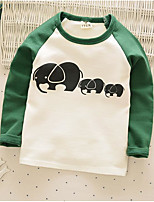 Boy's Casual/Daily Print Hoodie & SweatshirtCotton Spring / Fall Green