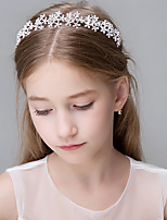 Women's Rhinestone Crystal Stainless Steel Imitation Pearl Titanium Paper Headpiece-Wedding Special Occasion Casual Office & Career