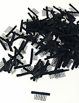 40 pcs/Lot Wig Accessories Hair Wig Combs and Clips For Wig Cap Black Color Lace Wig Making Combs and Clips For Wig Cap