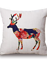 Polyester Decorative Cushion Pillow Cover Animal Deer Sofa Home Decor 45x45cm
