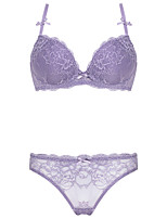 3/4 cup Bras & Panties Sets,Adjustable / Push-up / Lace Bras Lace