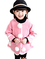 Girl's Casual/Daily Solid Down & Cotton PaddedOthers Winter / Spring / Fall Blue / Pink / Red