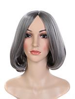 vente chaude couleur gris perruques synthétiques vague populaire