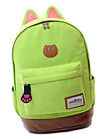 Unisex Canvas Sports / Outdoor Backpack White / Blue / Green / Yellow / Red / Black