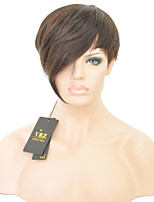 Short Human Hair Capless Wigs Short Brazilian  Hiar Straight Wigs for Black Women Color 1B