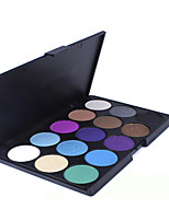15 Lidschattenpalette Trocken / Mineral Lidschatten-Palette Puder Set Alltag Make-up / Halloween Make-up / Party Make-up