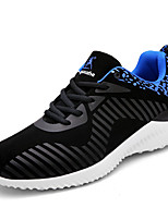 Men's Sneakers Spring Fall Comfort PU Outdoor Casual Flat Heel Lace-up Black Blue Gray