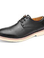Men's Oxfords Comfort Leather Casual Black Brown Coffee