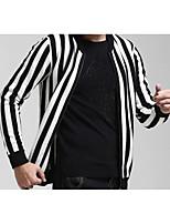 Herren Standard Strickjacke-Lässig/Alltäglich Übergröße Einfach Solide Blau Rot Weiß Schwarz Ständer Langarm Baumwolle Winter Mittel