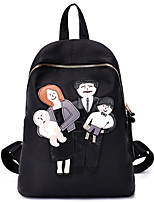 Women Oxford Cloth Sports / Casual Backpack Purple / Black