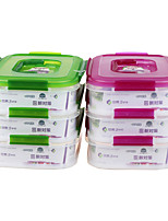 Yooyee Lockable Stackable Food Storage Boxes 3 Compartment (1.75L*3P)