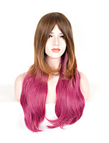Hightlight Fashion Mixed Color Straight Beauty Synthetic Wigs
