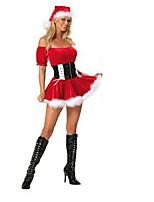 Costumes de Cosplay Rouge / Rouge & blanc Térylène Accessoires de cosplay Noël / Carnaval