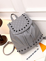 Women PU Casual Backpack White / Gray / Black