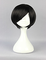 Special Style Black 30cm Short Straight Man High Quality Synthetic Wig
