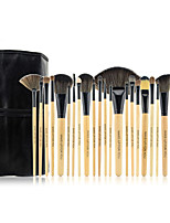 24 Blush Brush / Eyeshadow Brush / Brow Brush / Eyeliner Brush Professional / Travel / Full Coverage Wood