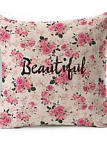 1 Stück Polyester Kissenbezug,Blumen / Text Modern/Zeitgenössisch / Akzent dekorativen