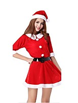 Christmas Costume / Holiday Halloween Costumes Red Solid Skirt / Belt / Hats Christmas Female