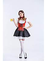Female Sexy  Oktoberfest Costume Beer Festival Uniforms Red Beer Girl Cospaly Sexy Halloween Costumes For Women Carnival